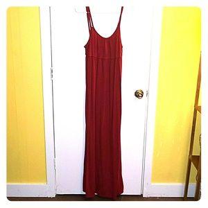 Rust red Mossimo Target Cotton Medium Maxi Dess